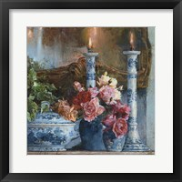 Framed Still Life With Candles
