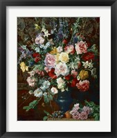Framed Dutch Style Flowers