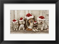Framed Dogs Christmas