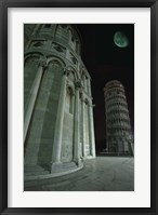 Framed Leaning Tower of Pisa at Night