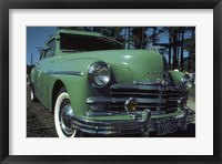 Framed Green Limousine
