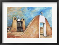 Framed Taos Pueblo