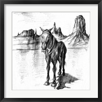 Framed Lonely Mule