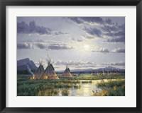 Framed Moonlit Encampment