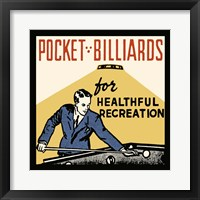 Framed Pocket Billiards For Healthful Recreation