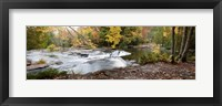Framed Bond Falls Panorama in Fall, Bruce Crossing, Michigan 09