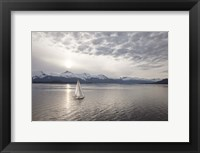 Framed Sailing at Sunset, Alaska 09