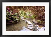 Framed Stepping Stones at Butchart Gardens #2, Victoria, B.C. 09