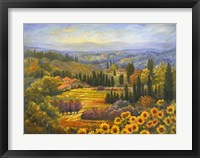 Framed Tuscan Countryside