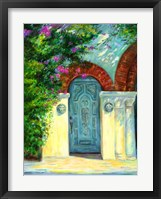 Framed Blue Door