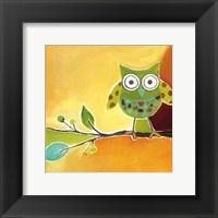 Owl Festival Square II Framed Print