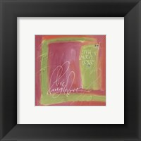 Framed Live Laugh Love Pink