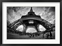 Framed Eiffel Apocalypse B&W