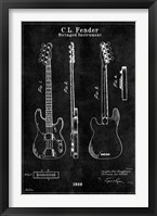 Framed Guitar 1 Black