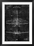 Framed Airplane1 Black