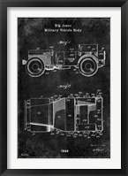 Framed Jeep1 Black