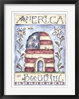 Framed America the Beeutiful