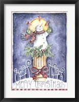 Framed Merry Christmas Snowman