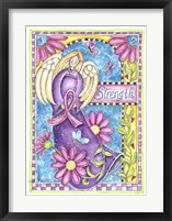 Framed Breast Cancer Awareness: Strength Angel