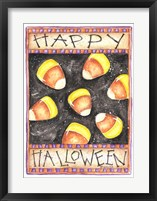 Framed Happy Halloween Candy Corn