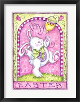 Framed Easter Bunny with Balloon