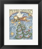 Framed Merry Christmas (Cat & Cardinal)