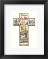 Framed Teacher Cross