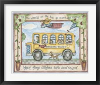 Framed School Bus - Stop