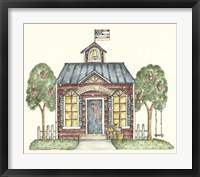 Framed Schoolhouse With Flag