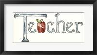 Framed Teacher With Apple