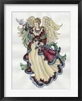Framed Angel With Doves