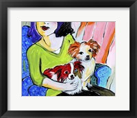 Framed Lady with Her Lap Dogs