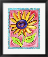 Framed Yellow Sunflower