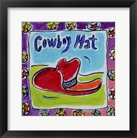 Framed Cowboy Hat