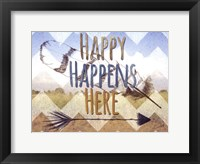 Framed Happy Happens Here