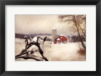 Framed Sleigh Ride In The Country