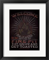 Framed Welcome Fire Pitt