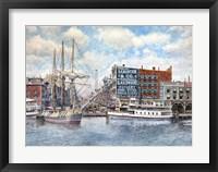 Framed Detroit Water Front 1896