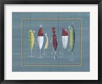 Framed Fishing Hooks 1