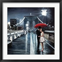 Framed Kissing on Brooklyn Bridge