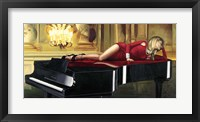 Framed Piano Lady