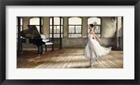 Framed Dim Light Ballerina