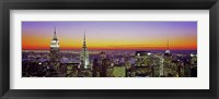 Framed Midtown Manhattan at Sunset, NYC