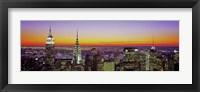 Framed Midtown Manhattan at Sunset, NYC