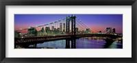 Framed Manhattan Bridge and Skyline