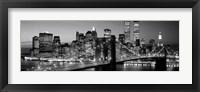 Framed Brooklyn Bridge to Manhattan