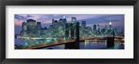 Framed Brooklyn Bridge and Skyline