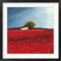 Framed Field of Poppies (Detail)