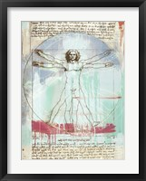 Framed Vitruvian Man 2.0