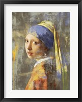 Framed Vermeer's Girl 2.0